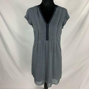 H&M Blue Print Sleeveless Dress Size 4